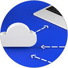 image of Cloud with computer + Laboratory instruments