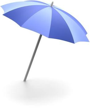 blue umbrella + Laboratory equipment