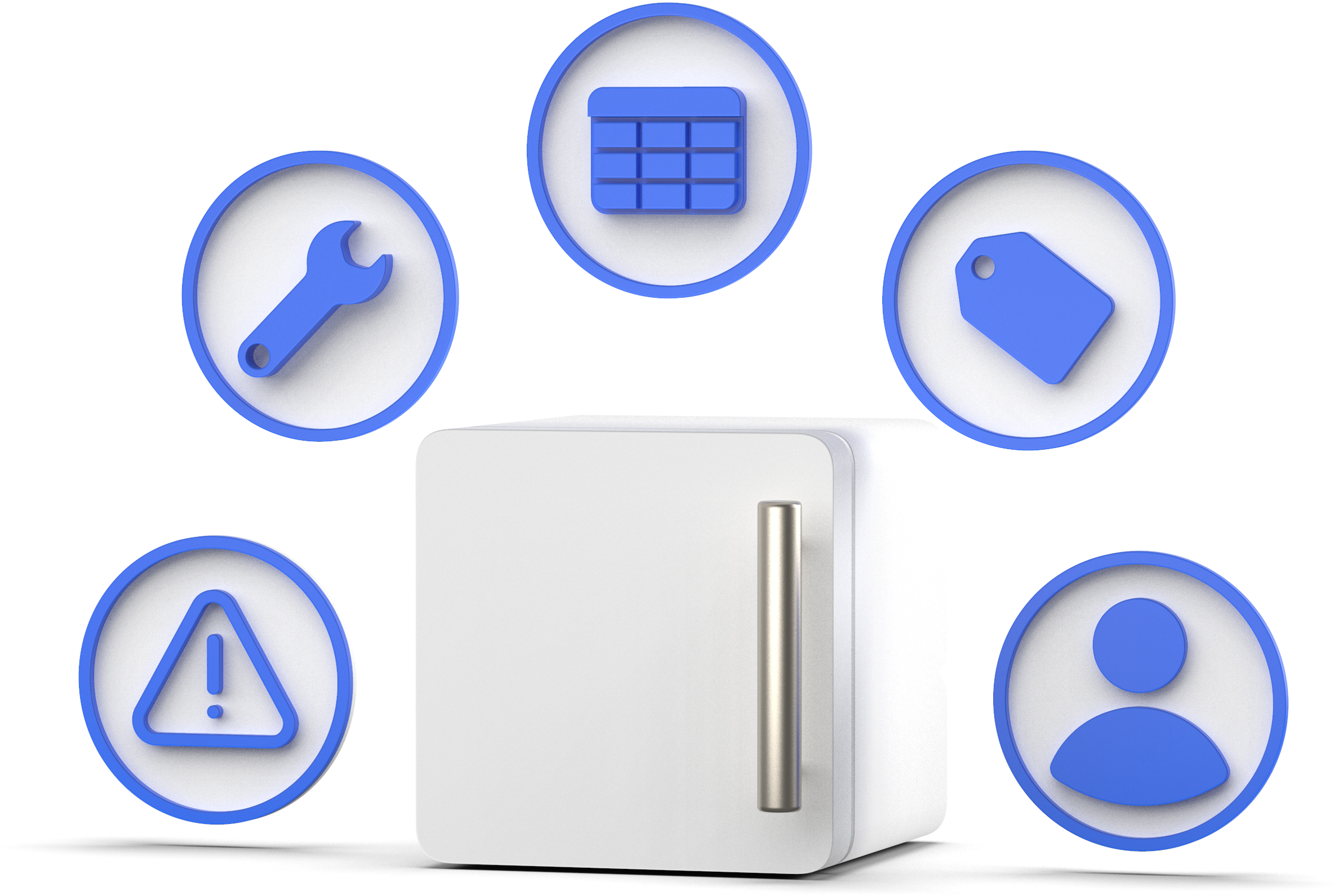 All assets around fridge + Science lab equipment